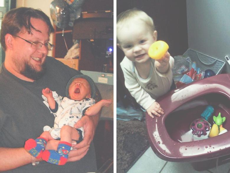 Photos of Braeden and Chris McLellan