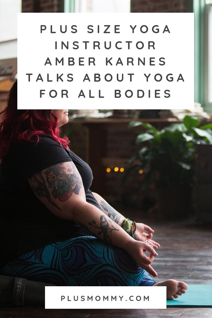 plus size yoga instructor