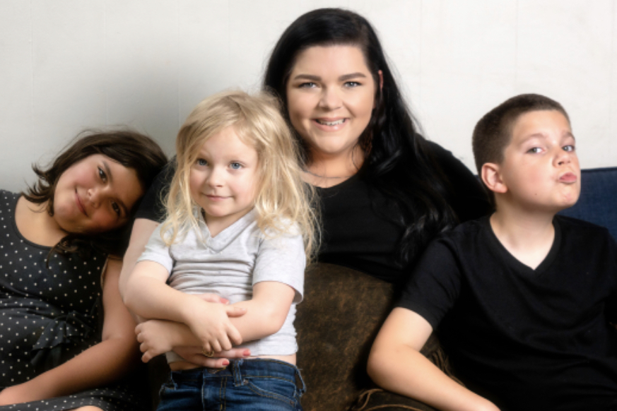 Tiffany Reese with her family