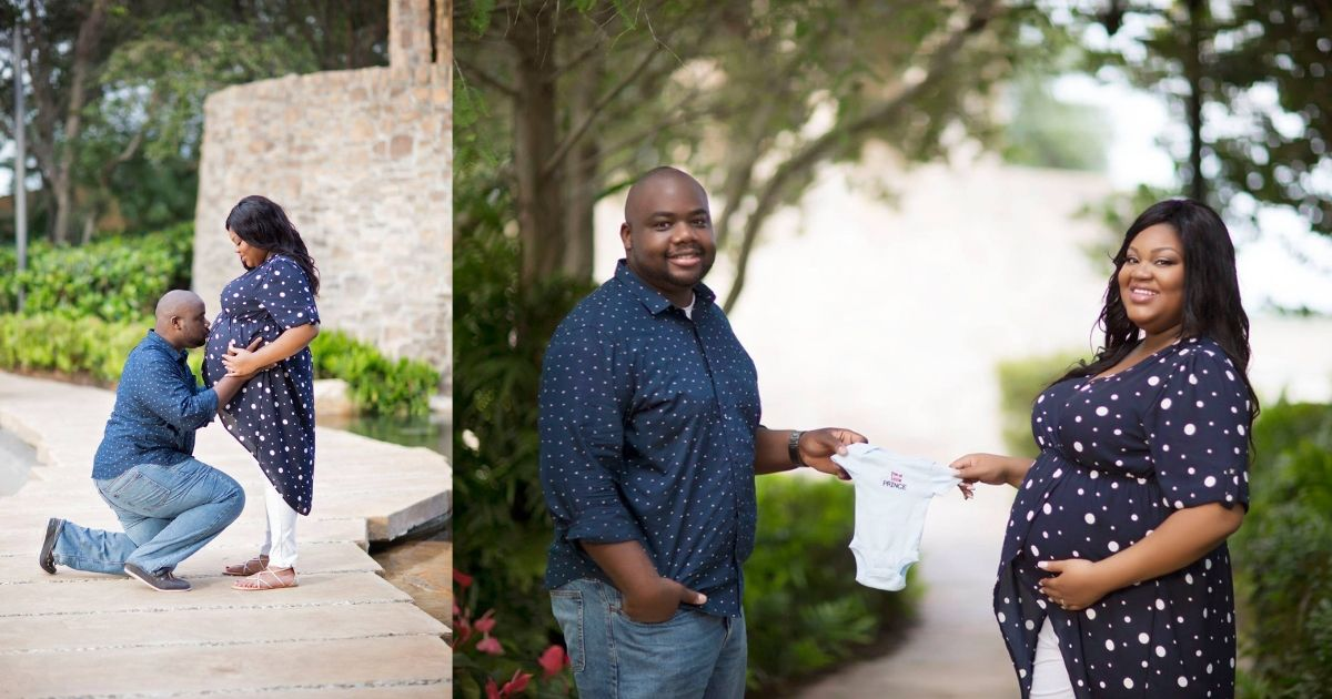 plus size maternity photo husband and wife