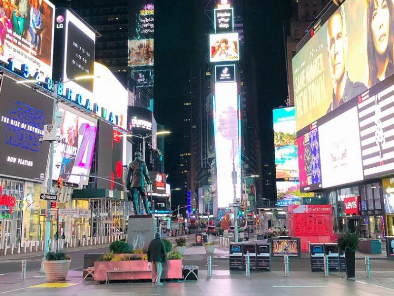 Times Square Stranded In New York