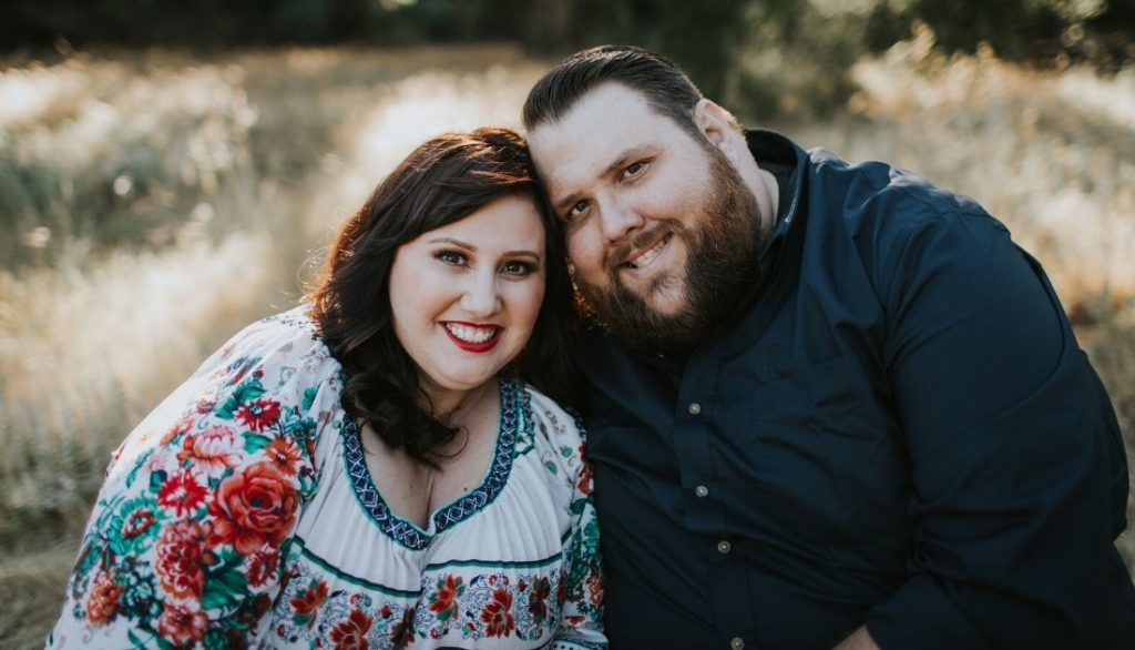 plus size couple undergoing fertility in a larger body