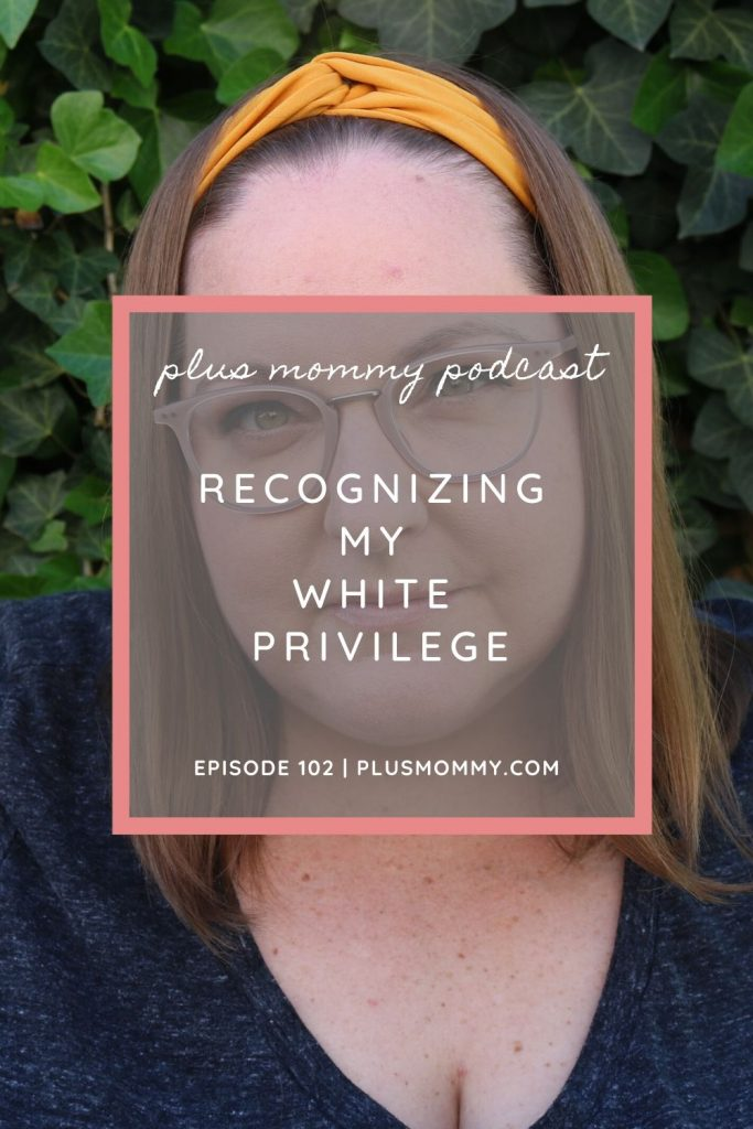Image text-recognizing my white privilege