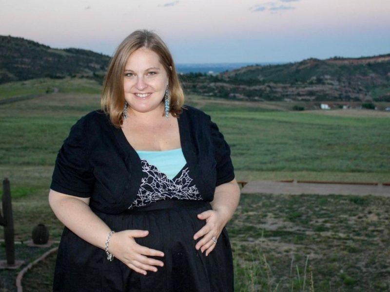 plus size pregnant woman