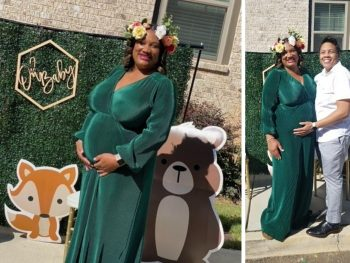 plus size pregnant woman with her wife