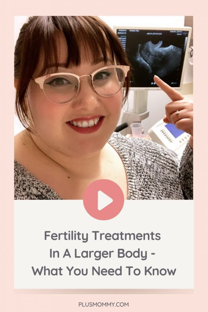 plus size woman getting fertility treatments in a larger body