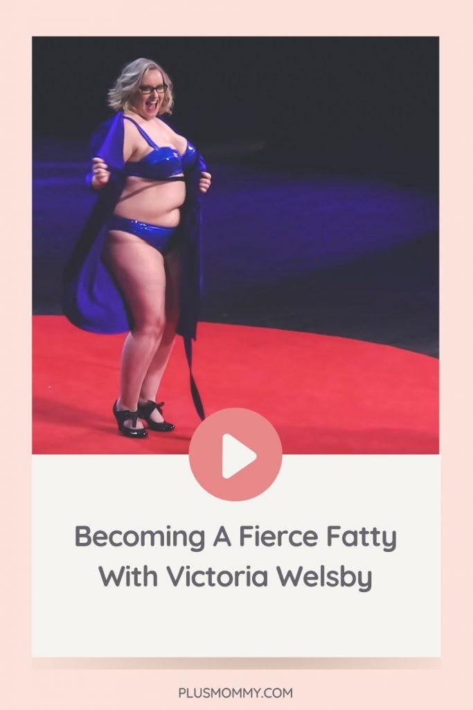 Fierce Fatty Victoria Welsby on TedEx stage