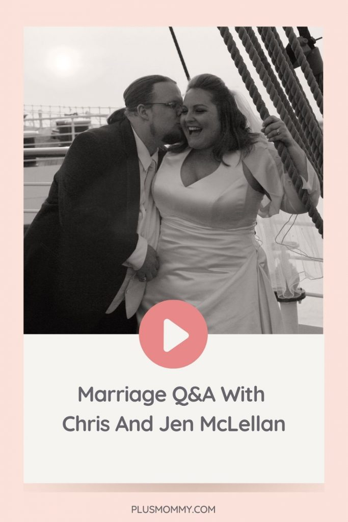 Text on image - Marriage Q&A With Chris And Jen McLellan