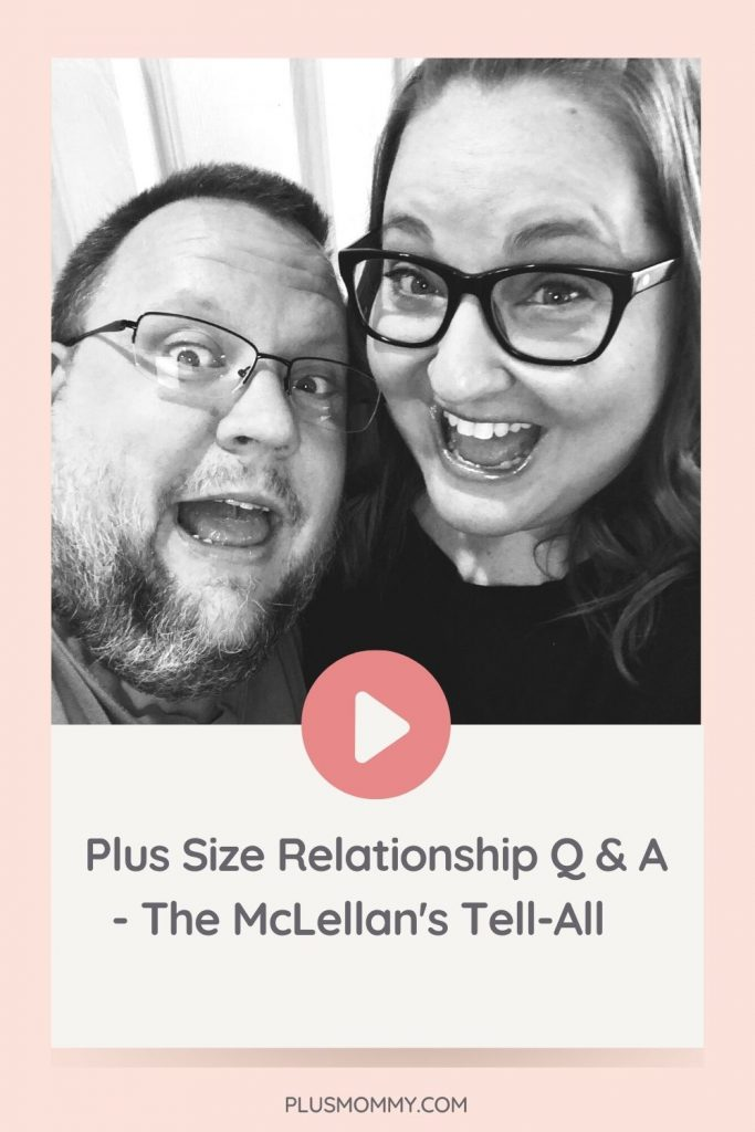 plus size man and woman in a plus size relationship
