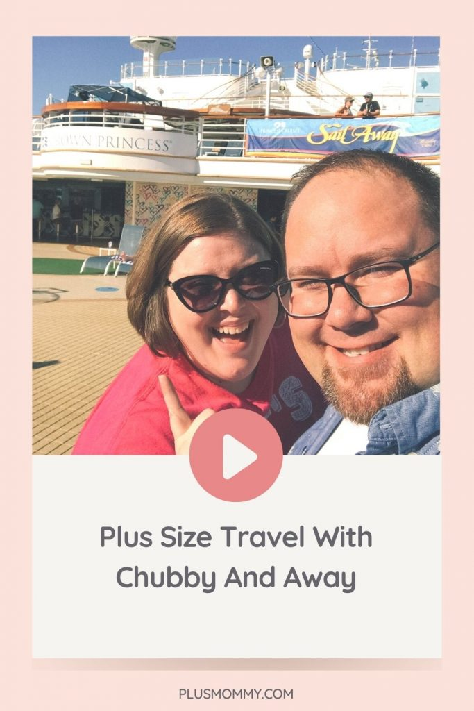 plus size couple on a cruise doing some plus size travel