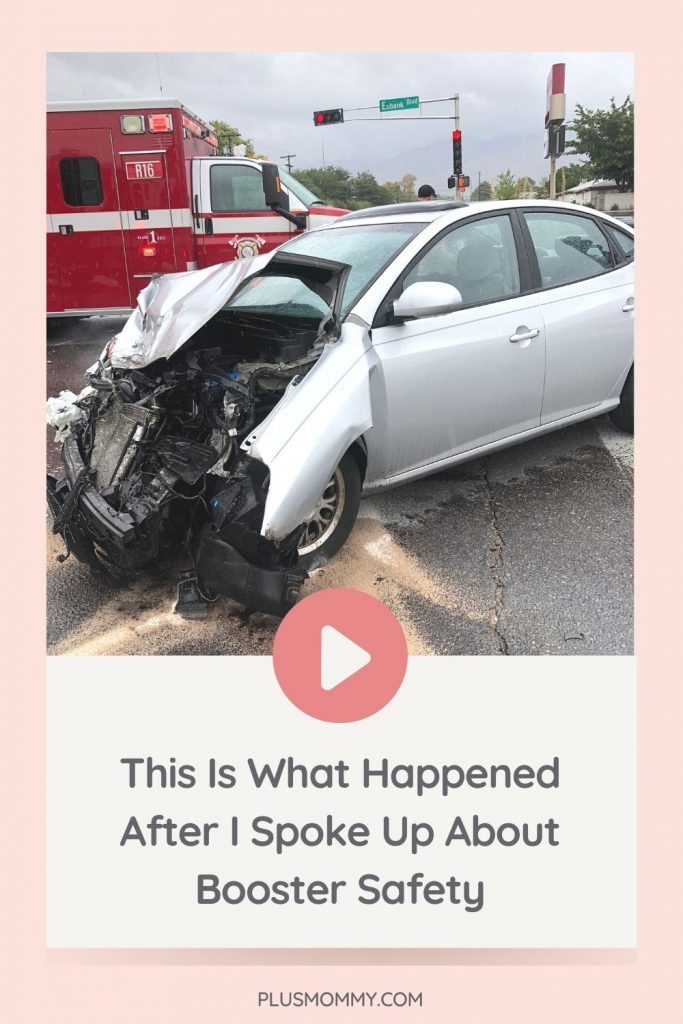 image text - this is what happened after I spoke up about booster safety