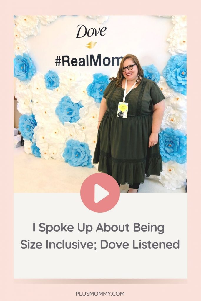 plus size woman at Dove event